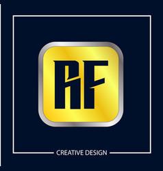 initial letter rf logo template design vector image