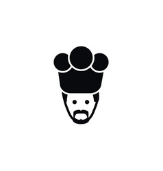 isolated gastronomy icon chef element can vector image