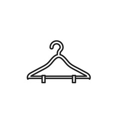Isolated hanger icon line design vector