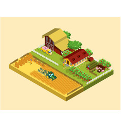 isometric farming concept vector image