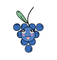 kawaii cute funny grape fruit vector image vector image