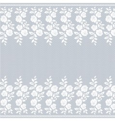 Lace border on gray vector