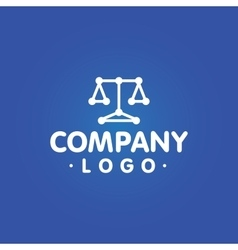 Lawyer company logo template vector
