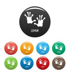 lemur step icons set color vector image