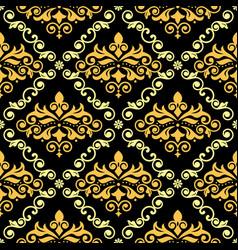 luxury arabic damask wallpaper seamless pattern vector image