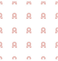 medal icon pattern seamless white background vector image
