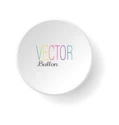 Minimalism white button vector