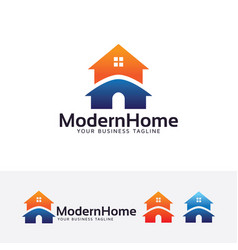 modern home logo design vector image