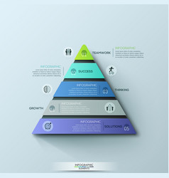 modern infographic design template triangular vector image
