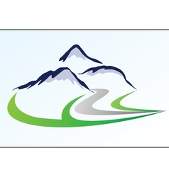 Mountain logo 6 vector image