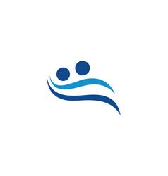 people couple wave logo vector image