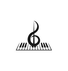 piano violin musical logo inspiration isolated on vector image