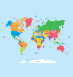 Political map world vector