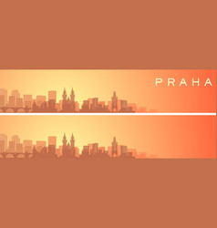 Prague beautiful skyline scenery banner vector