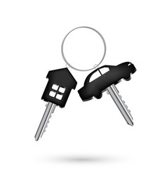 real steel house home and car key vector image