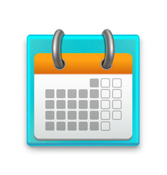 realistic detailed calendar month vector image