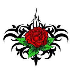 rose pattern tattoo vector image vector image