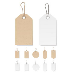 Set of blank gift box tags or sale shopping labels vector