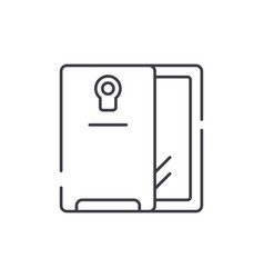 smartphone and case line icon concept smartphone vector image