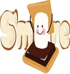 Smore vector image