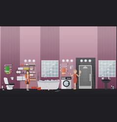 spa bathroom concept flat vector image
