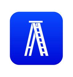 Stepladder icon digital blue vector