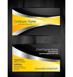 stylish business card template design vector image
