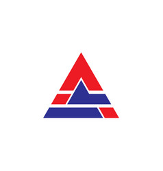 triangle business technology logo vector image