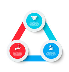 Triangle infographic with 3 options abstract vector