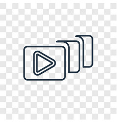 Video file list concept linear icon isolated on vector