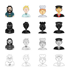 vocation profession hobby and other web icon in vector image