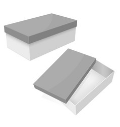 white box packaging with gray lid vector image