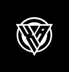 Xa logo with negative space triangle shape and vector