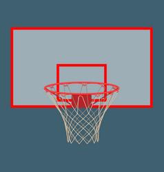 basketball hoop on backboard isolated on white vector image vector image