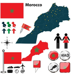 Morocco map vector image vector image