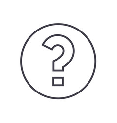 question line icon sign on vector image
