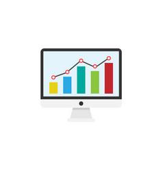 seo monitoring flat icon vector image