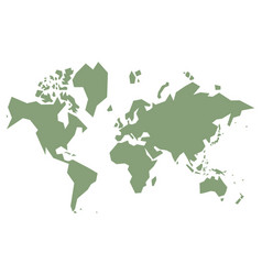 simple world map vector image vector image