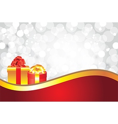 white christmas background gifts golden stripe vector image vector image