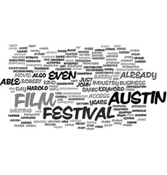 austin film festival text background word cloud vector image