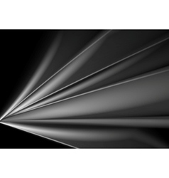 Dark abstract grey smooth waves background vector image