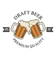 draft beer vector image