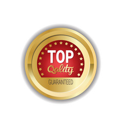 top quality logo or badge golden medal icon vector image