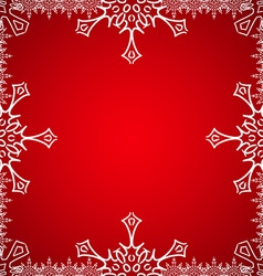 Christmas frame with snowflakes on the edge vector image