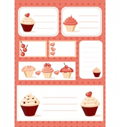 cooking business cards vector image vector image
