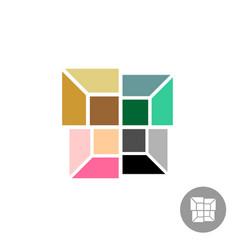 interior designs logo different color rooms vector image