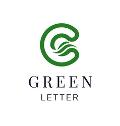 letter c eco leaves logo icon design template vector image vector image