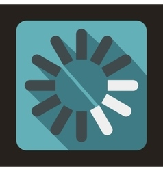 Loading circle icon flat style vector image