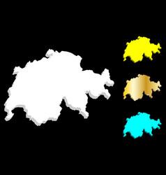 3d map of switzerland vector image
