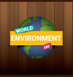 5 june celebration world environment day vector image